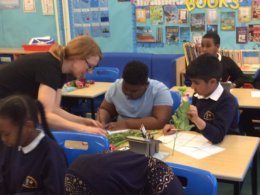 Students at Brookfields Primary School