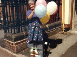 Hockley Flyer trolley on Marie's 80th birthday. Photo courtesy of Marie Haddleton.