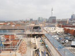 Argent Centre turret under construction. Photo: Oliver Architecture