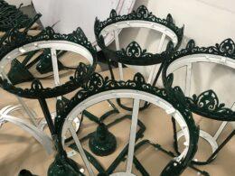 Frames of the Chamberlain Clock lanterns
