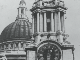St Paul's Cathedral, London. Designed and built in 1893, it has been maintained by Smith of Derby ever since installation