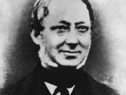 John Smith (1813-1886) from a photograph circa 1863. An apprentice to the last of the three Whitehursts, he founded the clockmaking business in Derby in 1856.